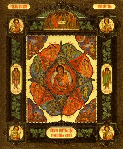 """Икона Божией Матери, именуемая """"Неопалимая Купина"""" (1680)"""